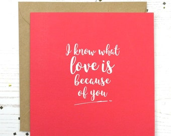 Love Is Valentines Card