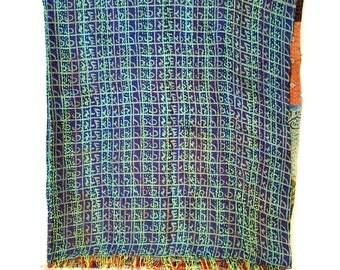 "Kantha Silk Fabric / XL - Scarf ""TAMLUK"""