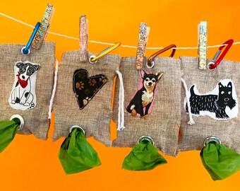 Character dog treat bag or dog waste carrier bag