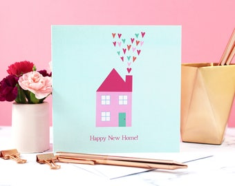 New Home Card, Happy New Home, Congratulations New Home, Home Card, Moving Card, Happy New Home Card