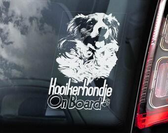 Kooikerhondje on Board - Car Window Sticker - Kooiker Dog Sign Decal - V01