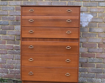 Lebus 6 drawer chest 60/70 mid century