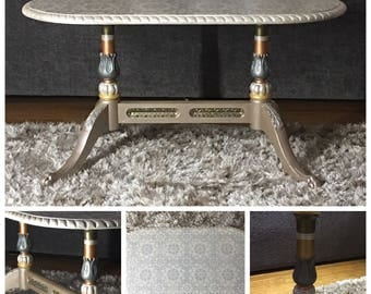 Metallic Painted Coffee Table