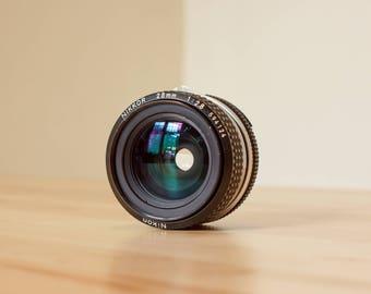 Nikon 28mm 2.8 nikkor manual focus lens for Nikon SLR