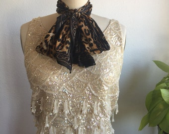 Sparkly 1960s beaded sweater tank