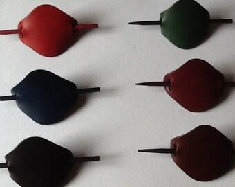 Hair Sticks - Gift for Her - Hair Barrette - Women Gift - Leather Hair Stick Barrette for Women - Leather Hair Cips for Her