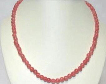 Cherry Quartz Necklace, Bracelet and Earrings