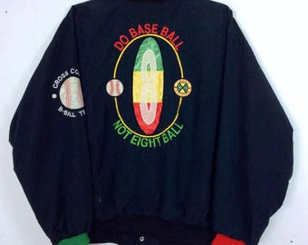 Vintages Cross Colours Jacket Post Hip Hop Nation Academic Hardware / Hip Hop Bomber Jacket / Rap Tees / Retro Hip Hop Swag