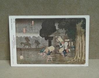 Vintage Rainstorm Art Print Postcard 1932