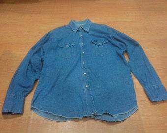 Vintage Wrangler Shirt Vintage Wrangler Western Cowboy Shirt Made in Mexico