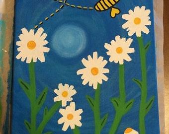 Spring -  Bee & Flower Painting
