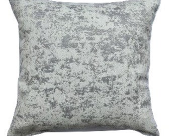 18in Pillow Cover, Decorative Pillow Cover, Silver & White Pillow, Throw Pillow, Accent Pillow, Cushion Cover