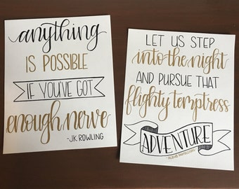 Harry Potter Hand-Painted Lettering (Set of 2)