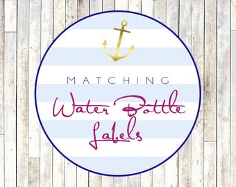 Matching Water Bottle Labels - Printable DIY