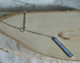 Stained Glass Drop Bar Necklace