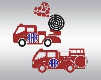 Fire truck svg, Firefighter svg, Boy svg, Valentine svg, Valentine's Day svg, Fireman svg, Clipart, Svg, Dxf, Png, Pdf, Svg files for Cricut