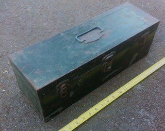 Vintage Union Utility Chest Distressed Tool Box JC Steampunk Carpenters