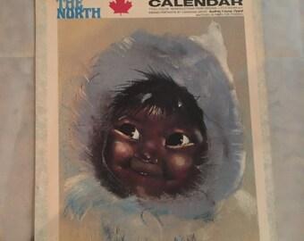 Vintage 1971 Children of the North Calendar