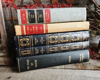 Old Books - 1911 The Siege of Boston & 1940's Fiction