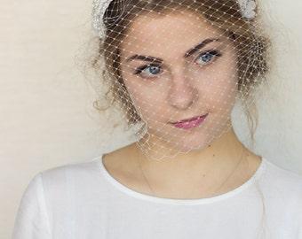 Wedding veil with 3D lace crown headband,bridal veil headband, wedding veil,wedding hair accessories, lace headband, lace bridal headpiece
