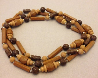"Vintage ""Wooden"" Bead Necklace"