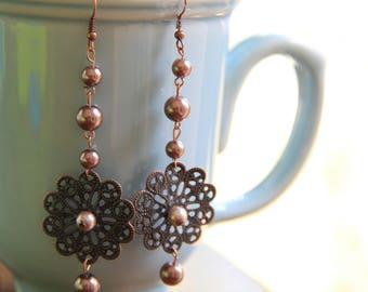 Everlasting Vintage Flower Earrings