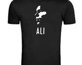 Muhammad Ali silhouette style t-shirt