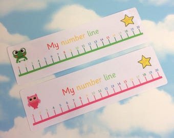 Number line to 20, Maths aid, 2 colours available, Teaching resource, Visual learners, Children's development, Nursery, Counting to 20