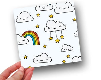 Cloud card // rainbow card // greetings card