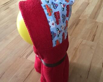 Vehicle hooded towel