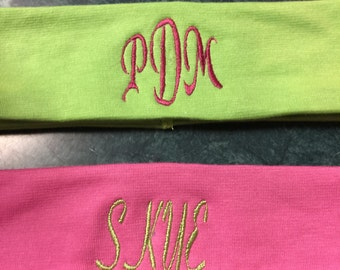 Personalized Monogrammed Stretch Headbands-ladies,girls,toddlers
