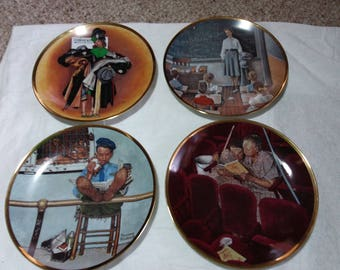Very sweet, but comical Norman Rockwell collectible plates. Eight plates. America at Work, must really look at them. Great plates.