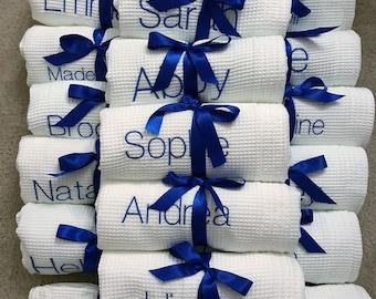 Monogrammed Bath Wrap, Spa Wrap, Towel Wrap, Waffle Towel Wrap, Monogram Towel  Wrap