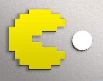 Retro Pac-man Wall Art Pacman Power Pellet Night light