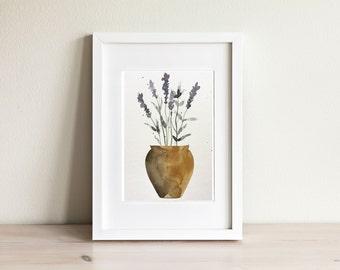 Illustration lavande, Lavender illustration / fait main, handmade