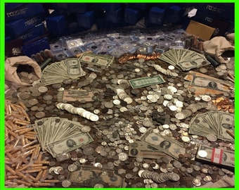 Estate Lot Old Us Coins ~ Gold .999 Silver Bars Bullion Set ~ Currency Money Hoard PCGS ~ Sale~