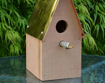 "Birdhouse 13"" - Northwest Cedar - Copper Roof - Fully Assembled OR in DIY Kit Form"