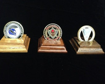Single Challenge Coin Display