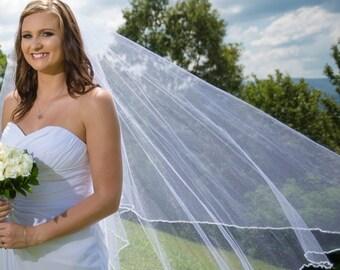 Hand Beaded Wedding Veil