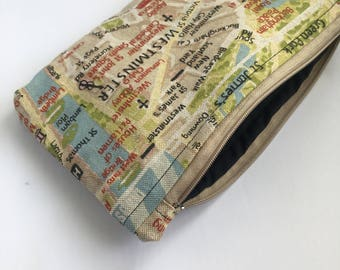 Small London Themed Make up bag or pencil case