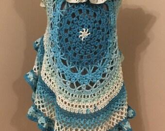 Crocheted Mandala Circular Vest