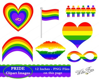 LGBT, Gay Pride Clipart, PNG & JPG, Transgender, Lesbian, Gay Clipart, Rainbow, Pride Parade, Gay Quote, Gay, Instant Download