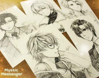 Mystic Messenger Sketches Commission