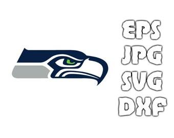 Seattle Seahawks logo SVG - Vector Design in Svg Eps Dxf Jpeg Format INSTANT DOWNLOAD