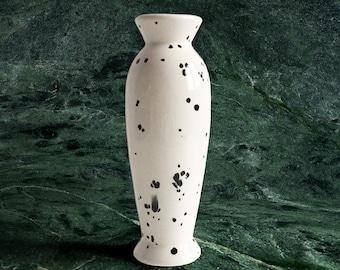 White Splatter Print Vase
