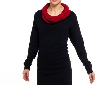 Kolla 4 in 1. long-sleeved. Black/chili