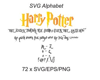 Harry potter font svg|Harry potter alphabet|harry potter svg,png,jpg,eps for Print/Silhouette Cameo/Cricut and Many More