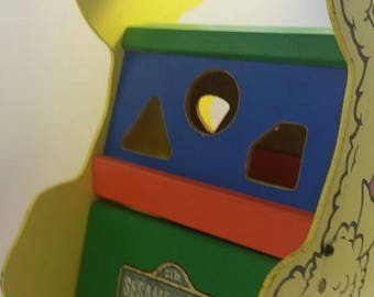 Big Bird Shape Sorter, Muppets Inc, Vintage, Sesame Street Toys, Toys, Vintage Toys, Big Bird, 70s