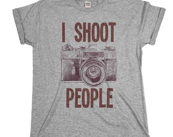 I Shoot People Photographer Mens & Ladies Unisex Fit T-shirt