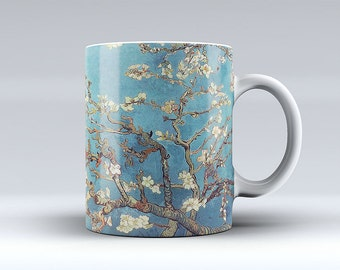 Van Gogh Blossoming Almond Tree Coffee Mug Tea Mug Coffee Cup Funny Mug Ceramic Hot and Cold Beverages 387C